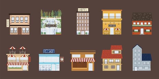 Commerce de propriétés de construction de bâtiments urbains