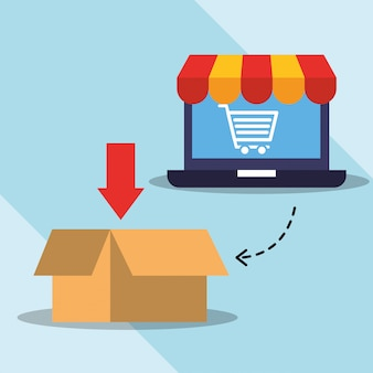 Commerce de shopping en ligne