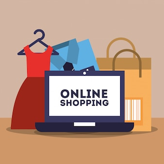 Commerce de shopping en ligne