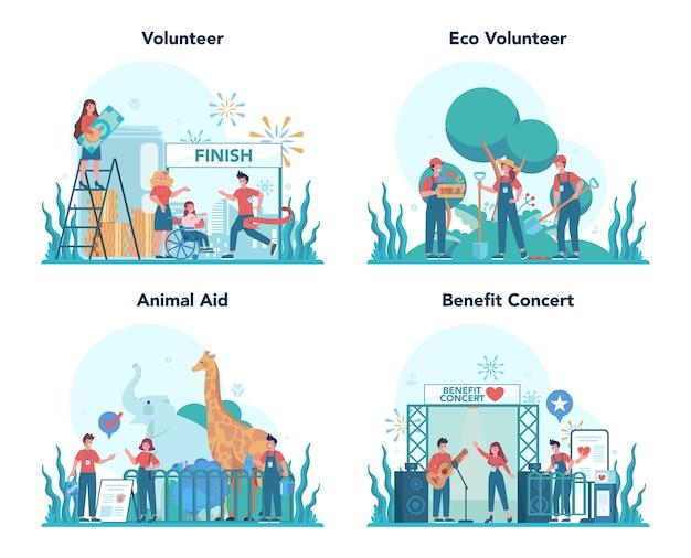 La communauté caritative soutient les personnes dans le besoin
