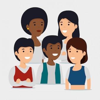 Communauté familiale ensemble et collaboration sociale