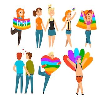 Communauté de personnes lgbt célébrant la fierté gay