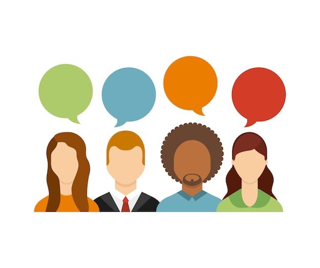 Communauté d'utilisateurs figure sociale