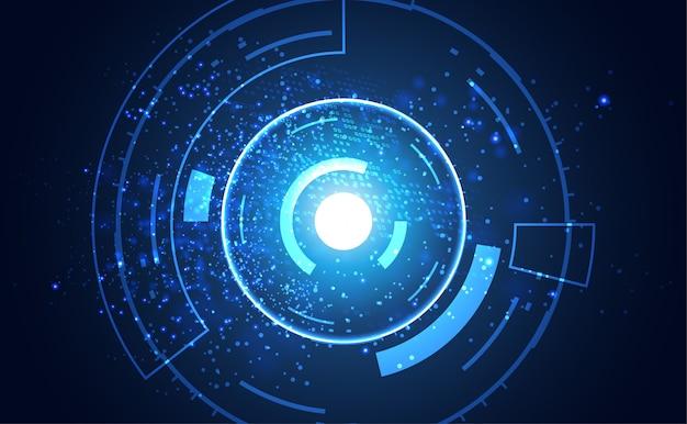 Communication de concept de technologie abstraite moderne