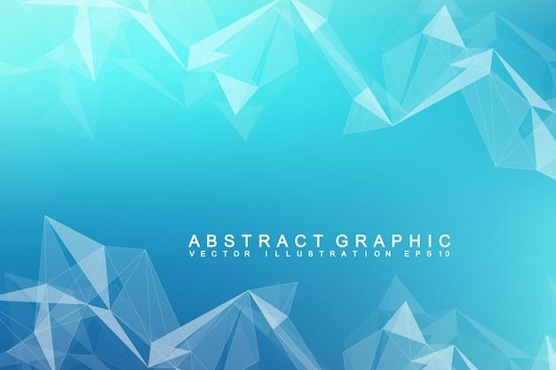 Communication de fond futuriste, mondialisation. lignes et points connectés à la scène de science-fiction. modèle vectoriel moderne pour votre conception.
