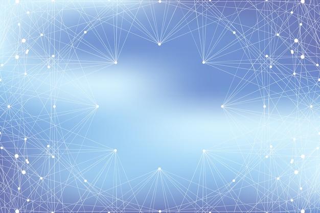 Communication de fond graphique géométrique