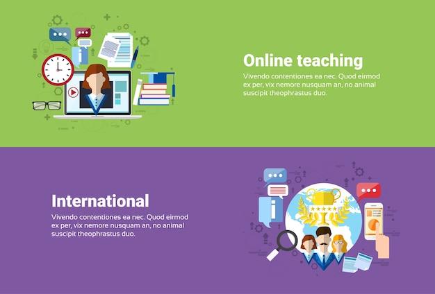 Communication internationale de connexion internet de réseau social de médias, enseignement en ligne d'éducation de web