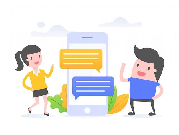 Communication en ligne.