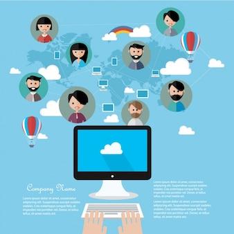Communication modèle infographique