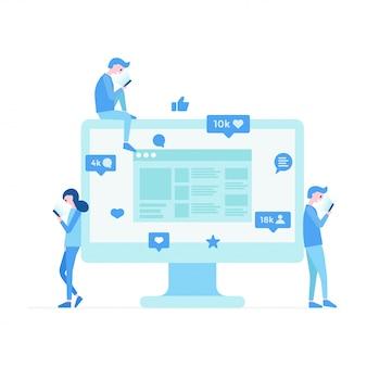 Communication moderne sur les réseaux sociaux