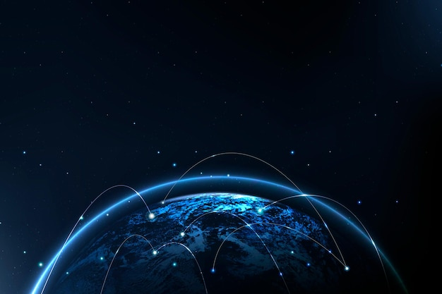 Communication numérique de fond de technologie de réseautage mondial