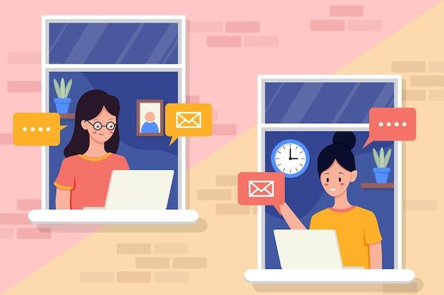 Communication par e-mail. .