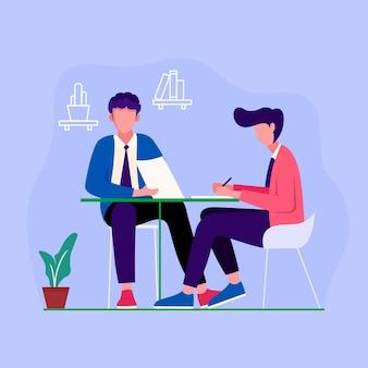 Communication de projet de design plat