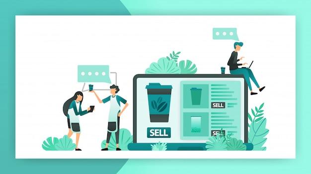 Communication à la recherche d'idées de boutique en ligne pour les petites et moyennes entreprises