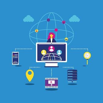 Communication réseau informatique