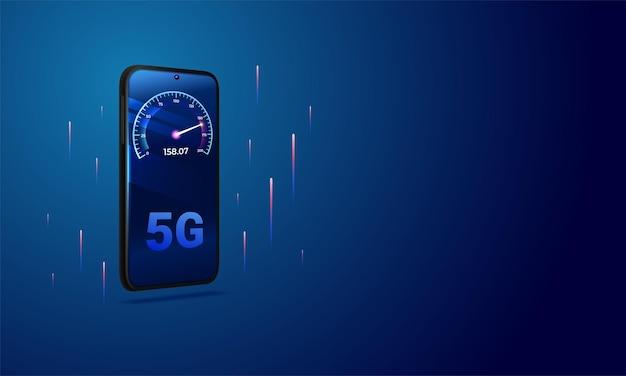 Communication réseau internet haut débit 5g
