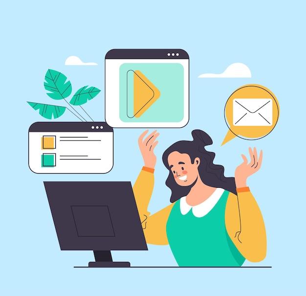Communication sur les réseaux sociaux en ligne sur internet