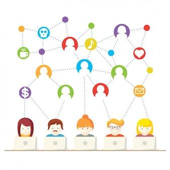 Communication à travers la conception d'internet