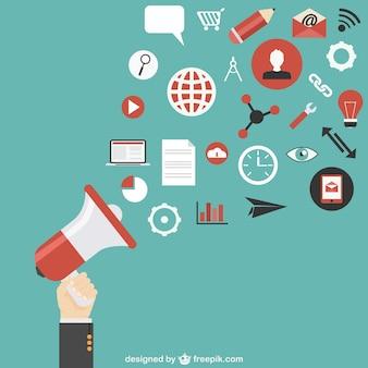 Communication vecteur de marketing