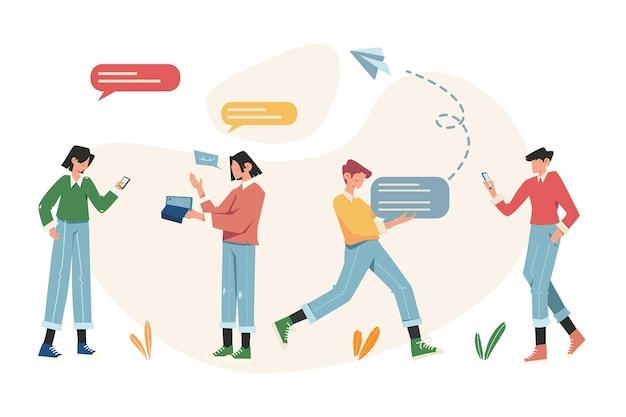 Communication via le chat en ligne et la vidéo