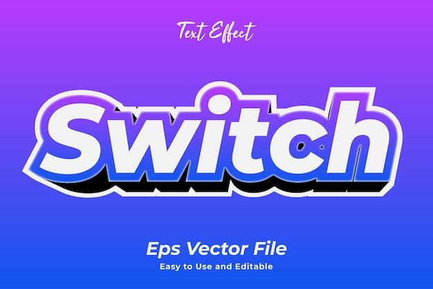 Commutateur d'effet de texte vecteur premium facile à utiliser et modifiable