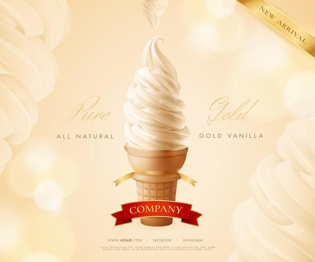 Compagnie de crème glacée réaliste