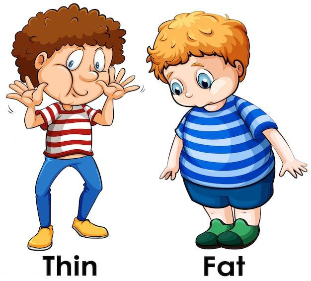 Une comparaison du corps du garçon