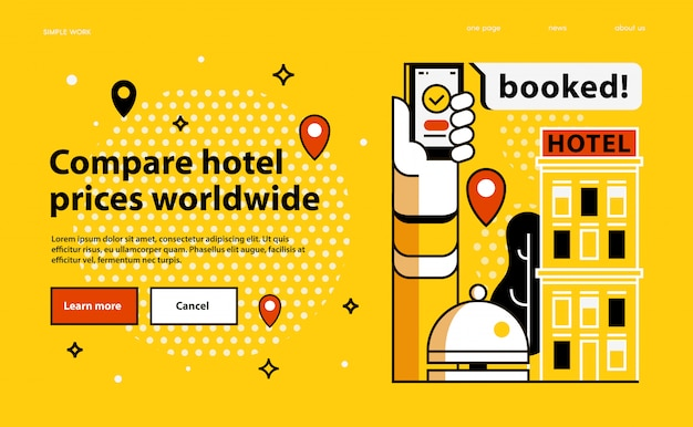 Comparez les prix des hôtels dans le monde entier.