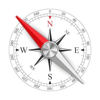 Compas magnétique rose des vents
