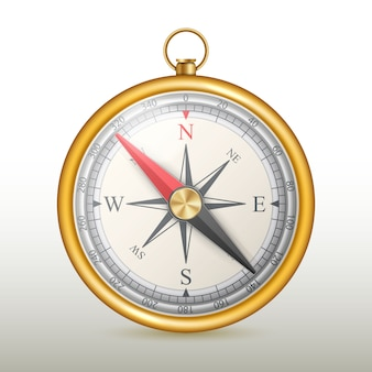 Compas magnétique rose des vents.