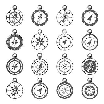 Compass icon set