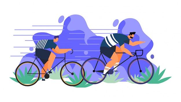 Compensation de père et fils de vélo de vecteur