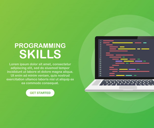 Compétences en programmation pour le site web et le modèle de site web mobile