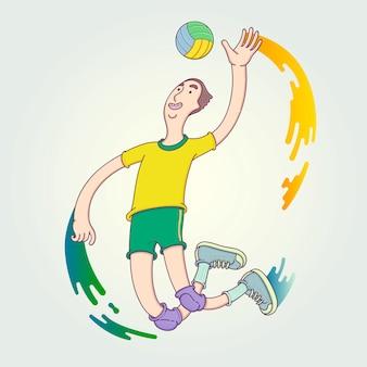La compétition de l'athlète.