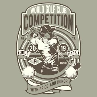 Compétition mondiale de golf