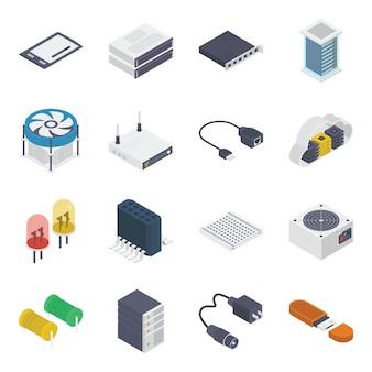 Composant interne de l'ordinateur isométrique