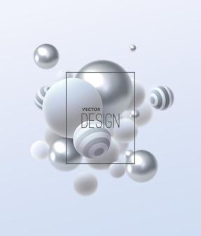 Composition abstraite avec cluster de bulles multicolores