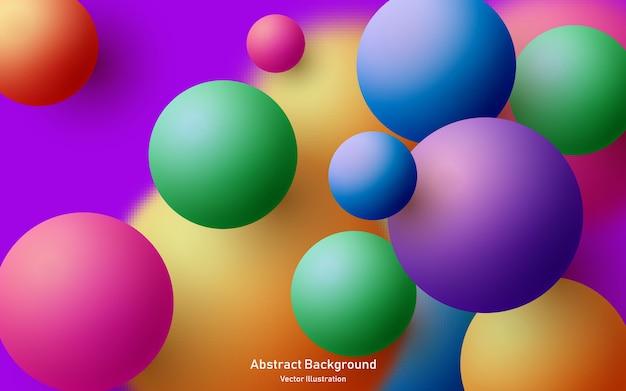 Composition Abstraite Avec Cluster De Sphères 3d Vecteur Premium