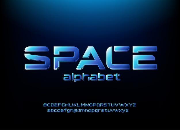 Composition d'alphabet futuriste moderne