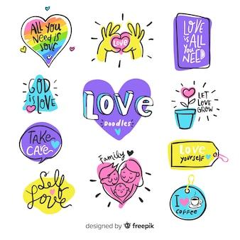 Composition d'amour moderne avec un style coloré