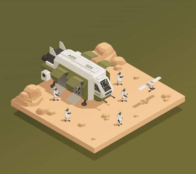 Composition de l'atterrissage de vaisseau spatial