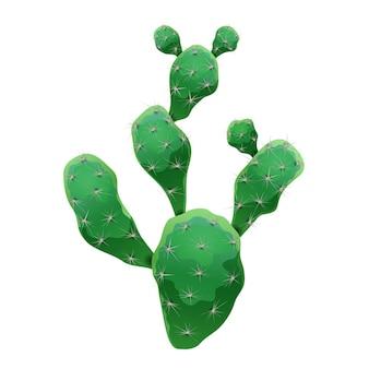 Composition de cactus avec image isolée de cactus nopal sur blanc