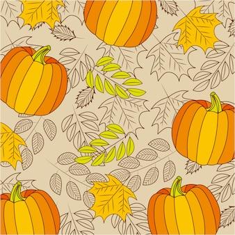 Composition de célébration de joyeux thanksgiving avec des citrouilles