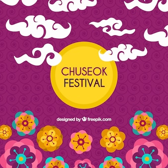 Composition chuseok moderne avec un style charmant