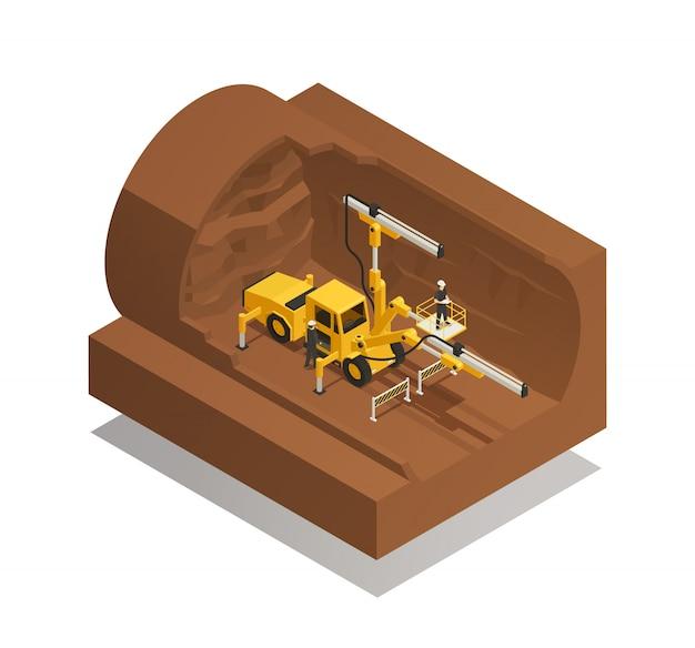 Composition de la construction du tunnel