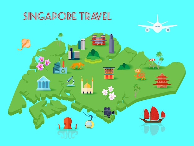 Composition de la culture de singapour