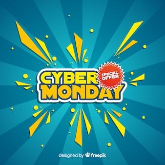 Composition de cyber lundi moderne avec un design plat