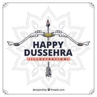 Composition de Dussehra dessinés à la main