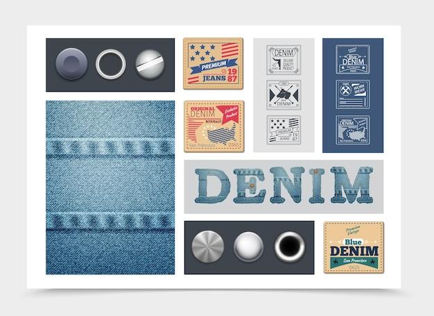 Composition denim plate