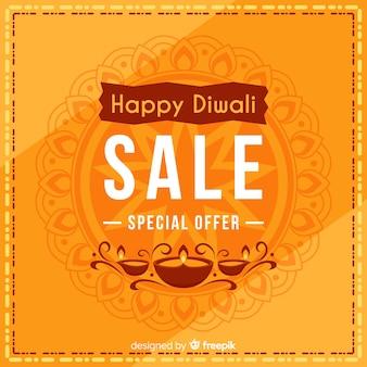 Composition de diwali élégante avec un design plat